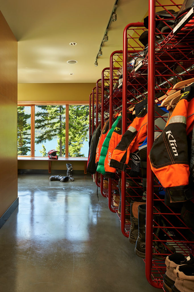 The large mud room offers plenty of storage for an active lifestyle or a large family without having to find clever places to store seasonal gear. Durable concrete floors make for quick clean up.
