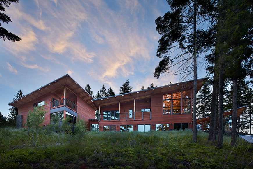 This stunning home seamlessly blends structure and nature with ingenious designs and breath-taking views of Cle Elum Lake.