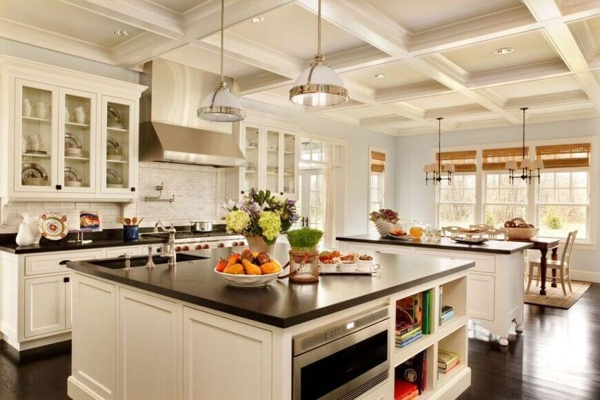 This Impressive Kitchen Has A Lot Going On. The Beautiful Wood Floors  Complement The Granite