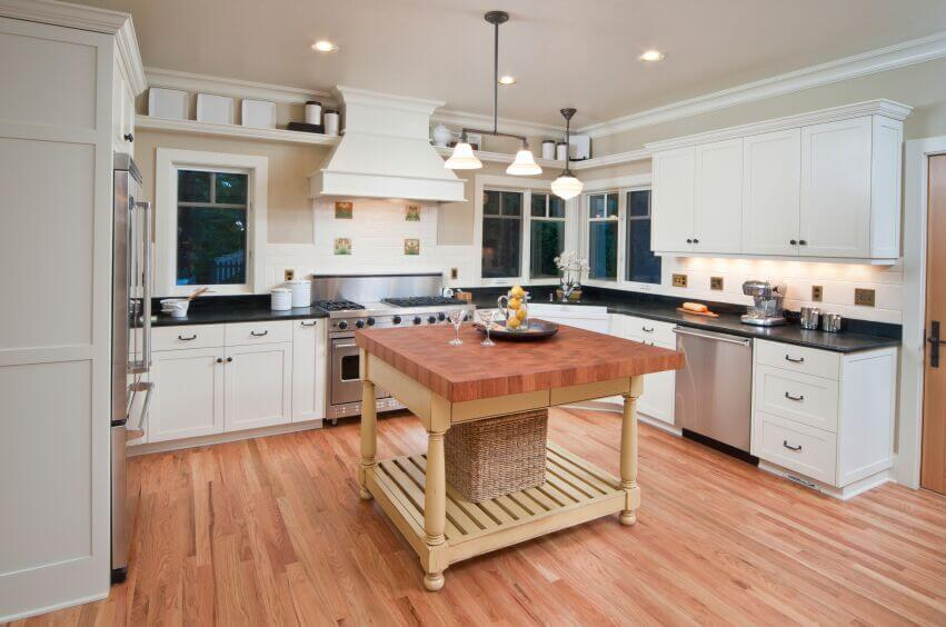 Inspiring Kitchens With White Cabinets And Dark Granite PICTURES - Medium gray kitchen cabinets