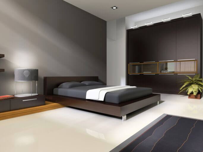 bedroom bookshelves. Sleek and minimalist  this modern bedroom features sparse but sharply defined appointments across its expansive 15 Bespoke Bedrooms With Bookshelves PICTURES