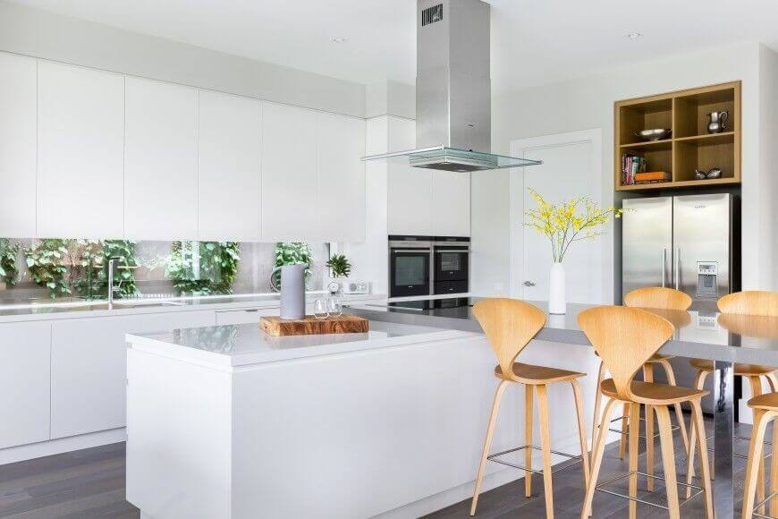 Kitchen With Dining Table 35 captivating kitchens with dining tables pictures heres a truly innovative island configuration extending in an l shape to create a workwithnaturefo
