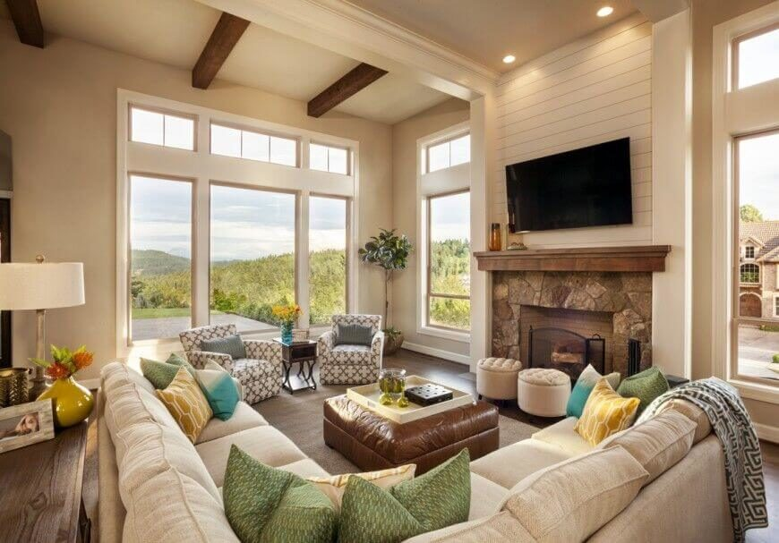 32 Spectacular Living Room Designs with Exposed Beams (PICTURES)