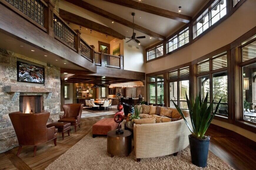 Great Room Ideas: 32 Spectacular Living Room Designs With Exposed Beams