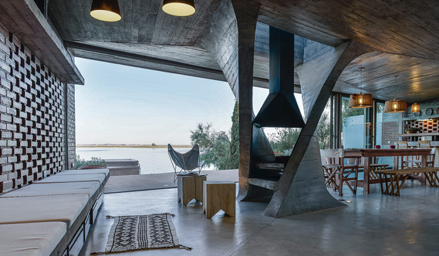 The Rich Texture Of The Wood Ceiling Beams Is Revealed When Low Angle  Sunlight Hits The