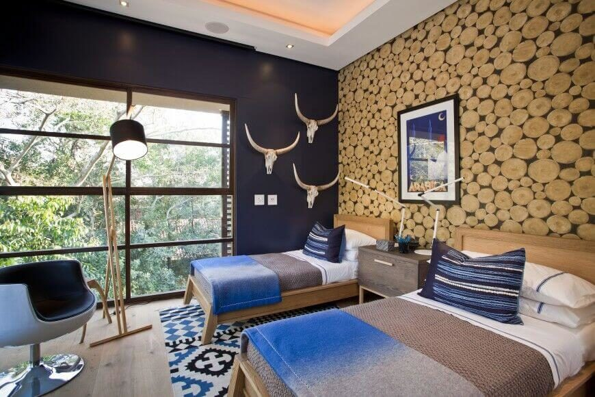 24 Comfortable Bedrooms with an Interesting Accent Wall (DETAILED ...