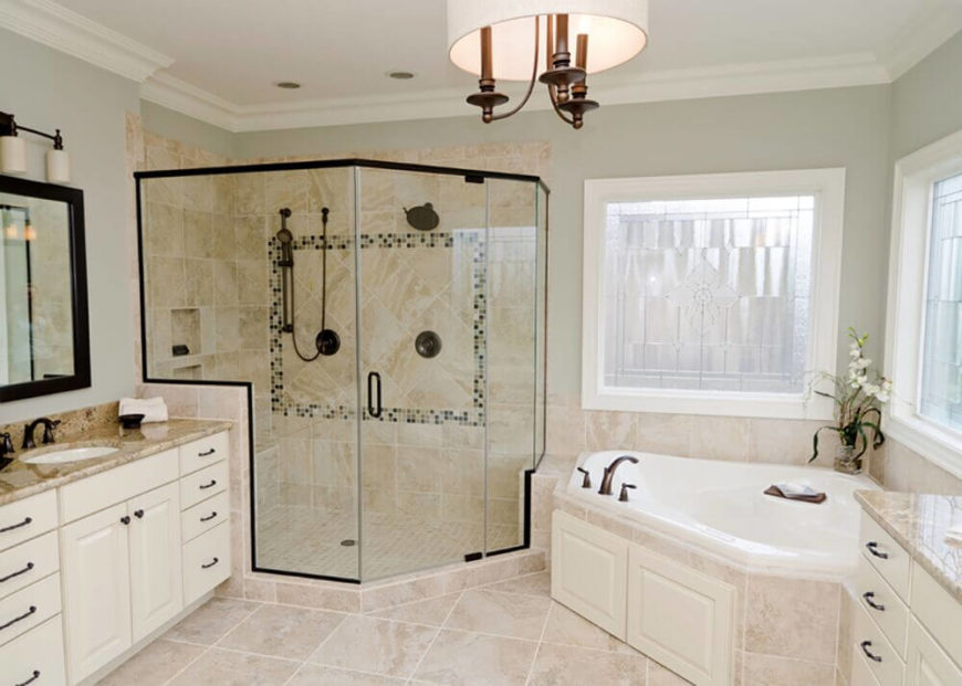18 bathroom with white cabinets