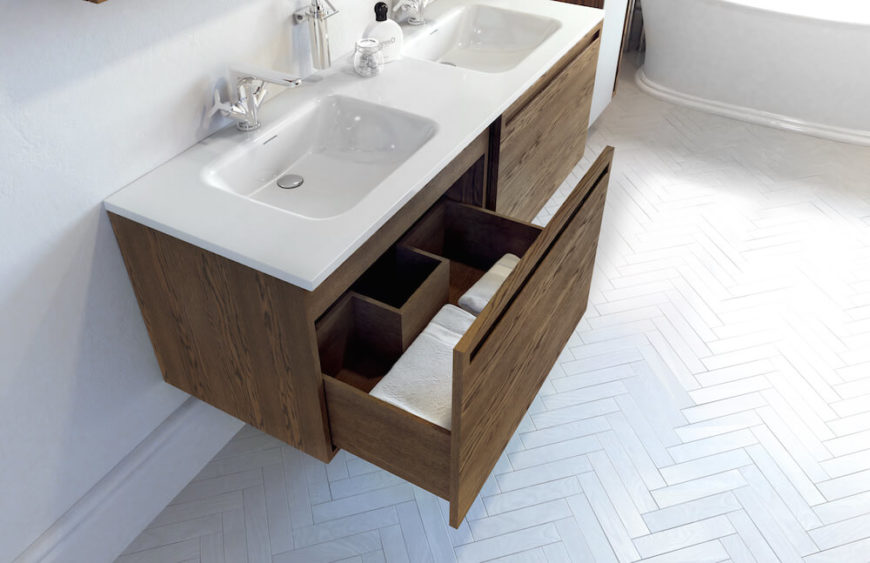 Here We See Just The Bottom Drawer Open. The Sink And Countertops Are  Available In