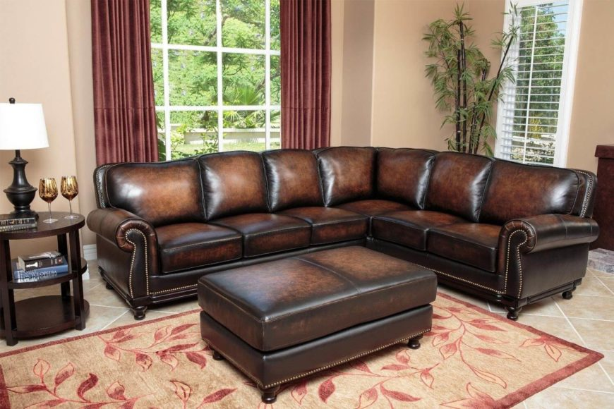 Luxury Leather Ottoman ~ Top man cave sofas from around the web