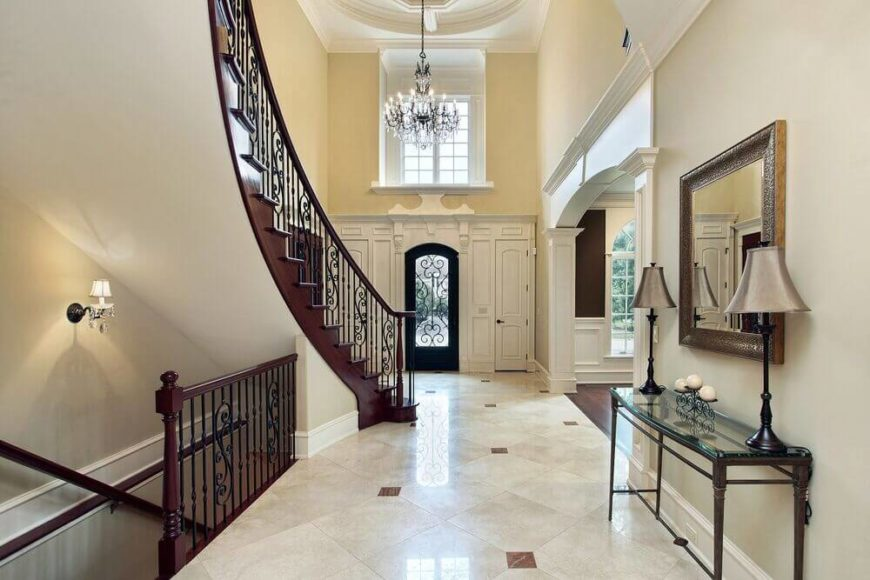 Front Foyer Chandelier : Elegant foyers with spectacular chandeliers images
