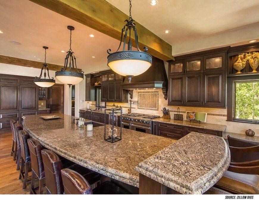Kitchen designs with islands large kitchen island kitchen islands - 34 Luxurious Kitchens With Island Sinks