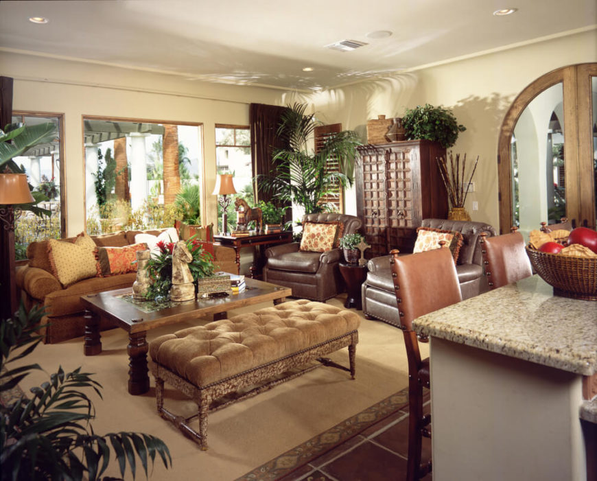 32 Lively Living Rooms With Houseplants (GREAT PICTURES)