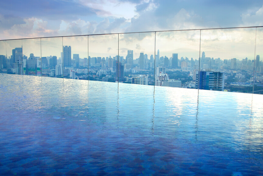 24 astonishing rooftop swimming pools beautiful pictures for Rooftop swimming pool