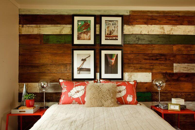 There Is No Need For A Headboard When You Have A Gorgeous Accent Wall Like  This