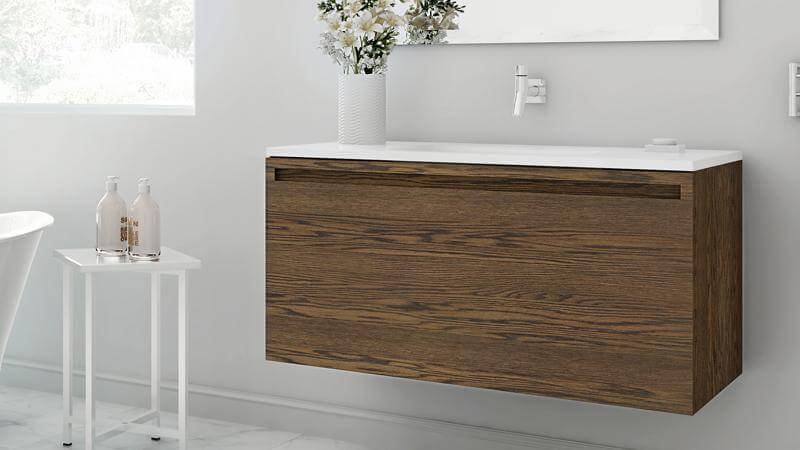 The 39 Inch Vanity Is Shown Here In The Mocha, A Lovely Lighter Option With