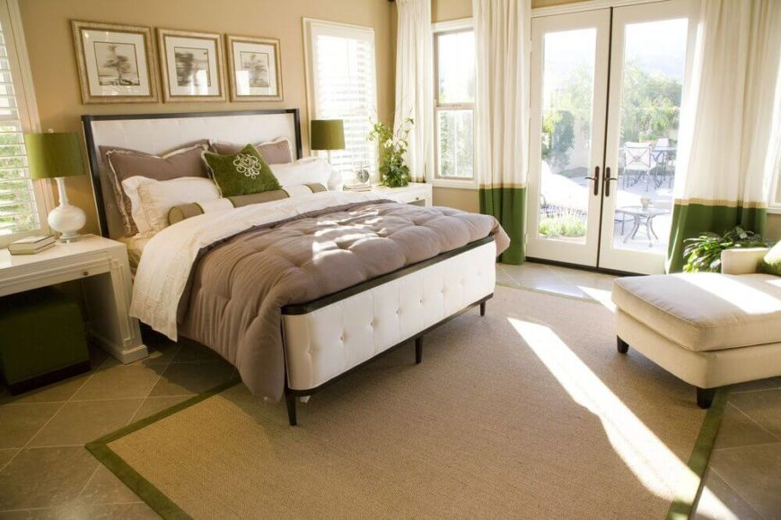French Door Decorating Ideas Part - 47: Master Bedroom With French Doors.
