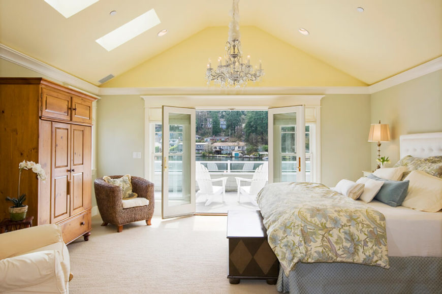 The Simple Layout Of This Large Bedroom With Vaulted Ceiling Allows For  Plenty Of Space To
