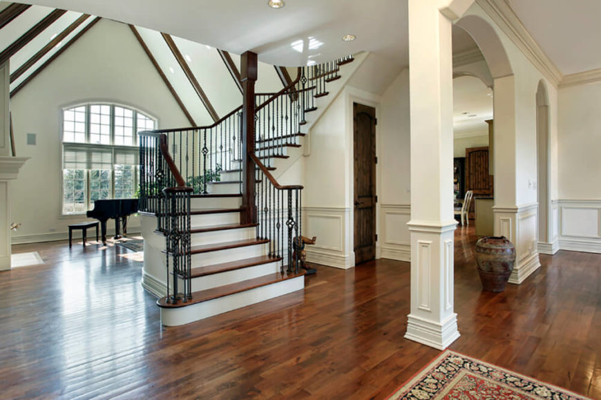 Two Story Foyer Wainscoting : Gorgeous foyers with wainscoting