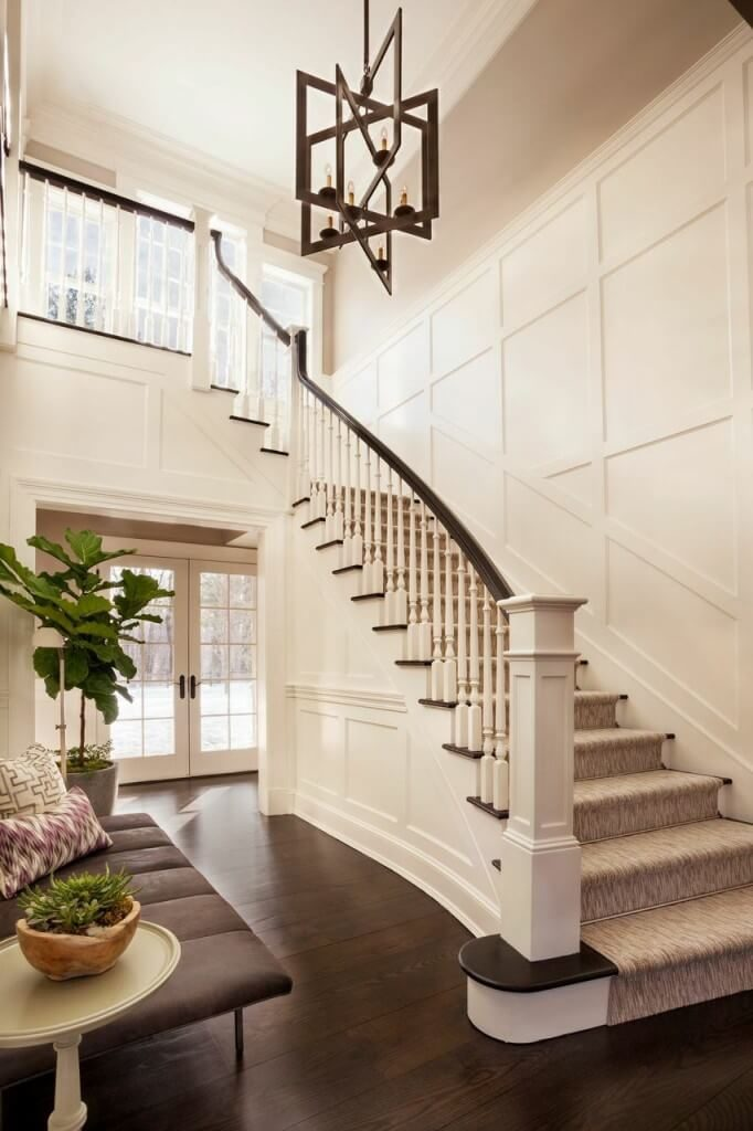 Open To Above Foyer : Gorgeous foyers with wainscoting