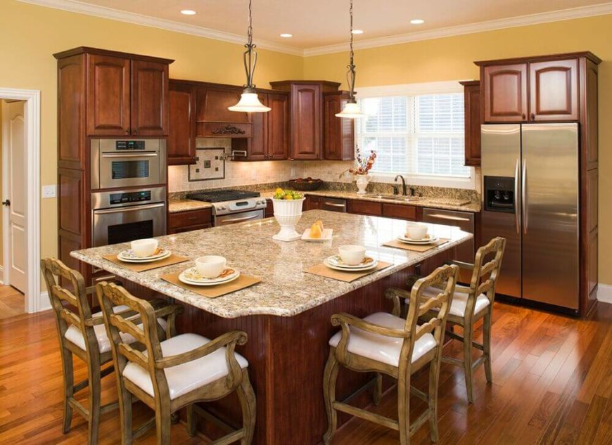 large kitchen island. Large kitchen island with seating on 2 sides 32 Kitchen Islands With Seating  Chairs and Stools