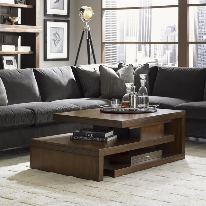 We love a solid contemporary piece of furniture that manages to evoke a timeless feeling while remaining thoroughly modern. This table does that and more, with an asymmetrical design and rich wood construction that looks fantastic in any setting.