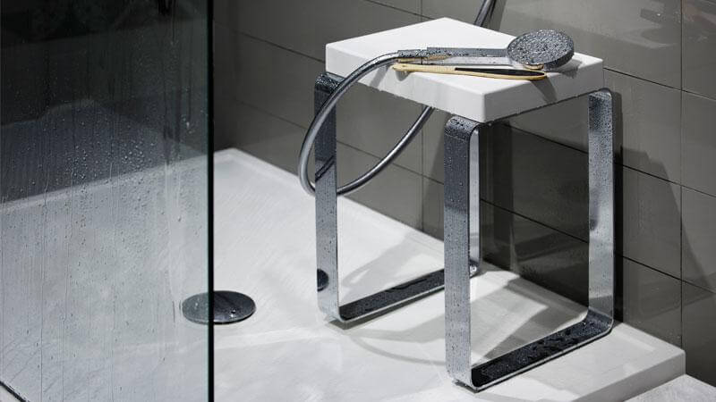 A bench is an excellent accessory for any shower, and one that will certainly be missed if not added from the beginning. The Cube Bench is water-resistant and will not rust, making it perfect for any shower. The legs are fitted with rubber feet, so the bench will not slide on the wet shower floor. The Cube Bench's stainless steel base comes in mirror or brushed finish. The seat is made of soft polyurethane foam in a pristine white to match the shower receptor.