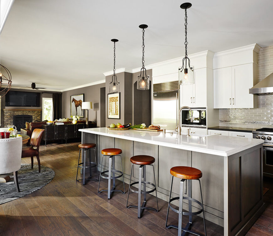 Suburban Oasis home by Kristina Wolf Design.