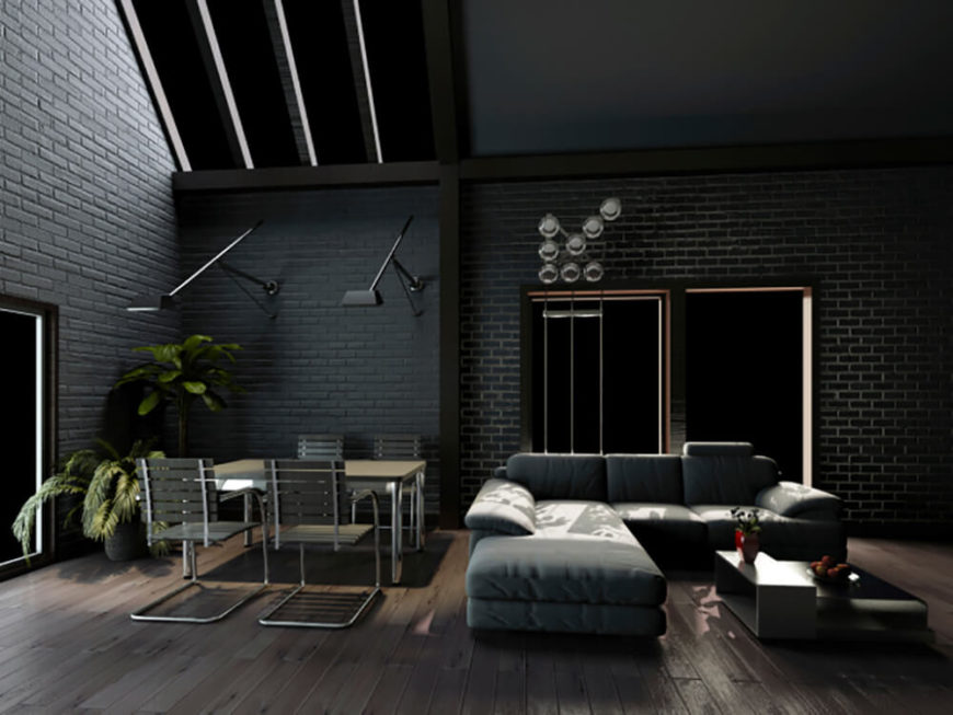 dark living room 38 beautiful living rooms with exposed brick walls 10280