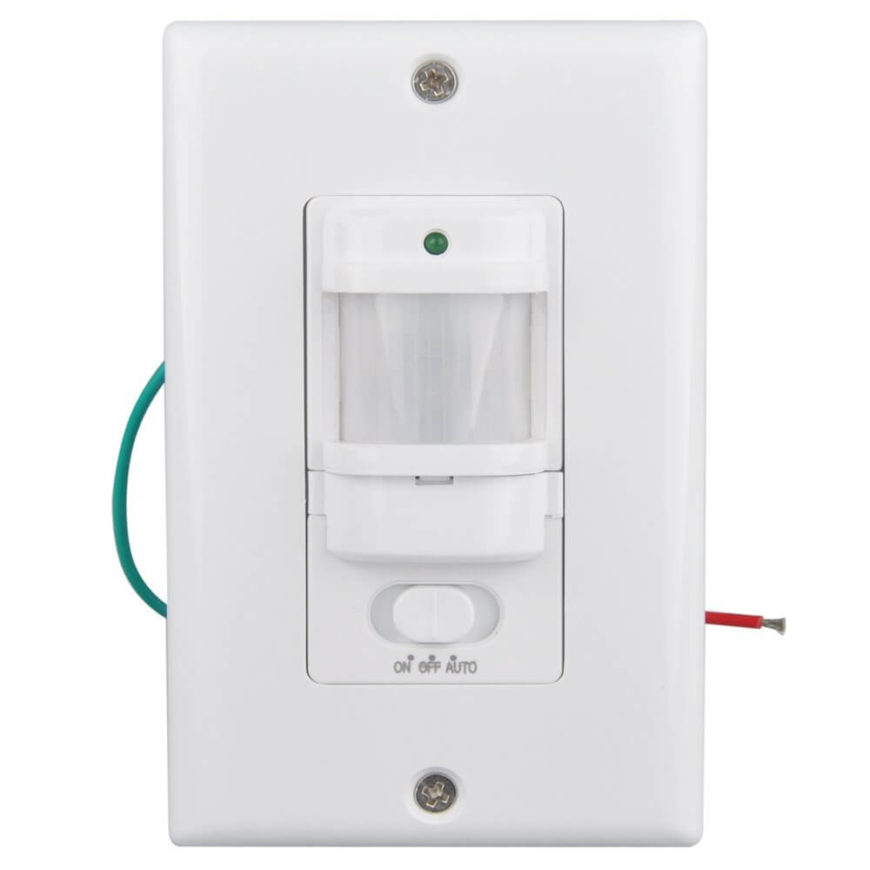 You may have seen switches like these in your office or even the bathrooms of contemporary restaurants or stores. They can be operated normally, or set to provide light only when the room is occupied. You'll save frustration and energy with these.