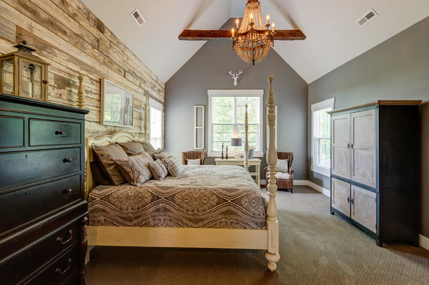 Once You Walk Into The Master Bedroom, The Wooden Accent Wall, Straight  From An