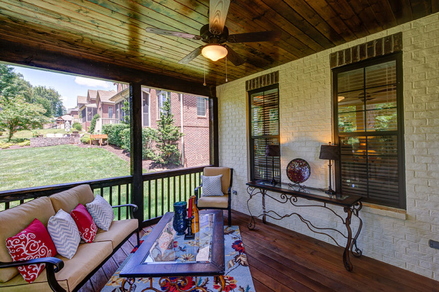 Just off the back of the house, a screened in porch sits next to an open deck area, ensuring that the memories you make of your beautiful home aren't confined strictly to the inside.