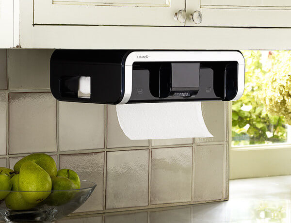 Touchless paper towel dispenser.
