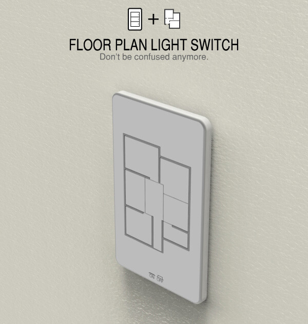 Designed by Taewon Hwang, this unique panel features switches that are modified according to the floor plan of the room and home itself, operating accordingly. The huge advantage here is that, in a single glance, you'll know exactly which switch controls the lighting in which room. This allows you to control lighting throughout the house in an intuitive, visual way.