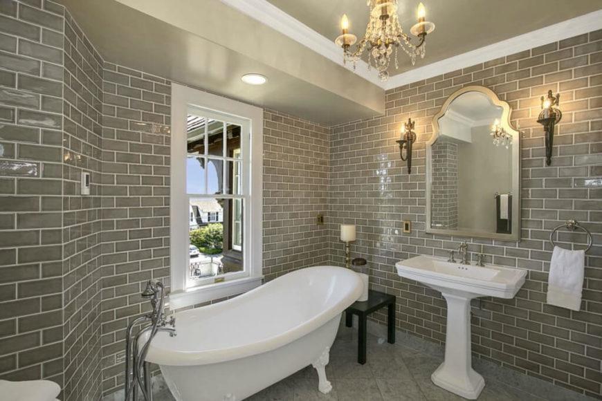 bespoke bathrooms with glittering chandeliers,