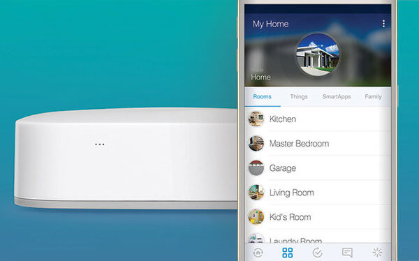 Here's a glimpse of the SmartThings app running, to show you how easy it is to command the entire house.