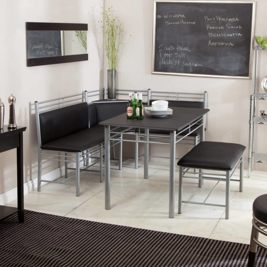 With This Set, We Move Firmly Into Contemporary Territory. The Formica  Tabletop Matches The