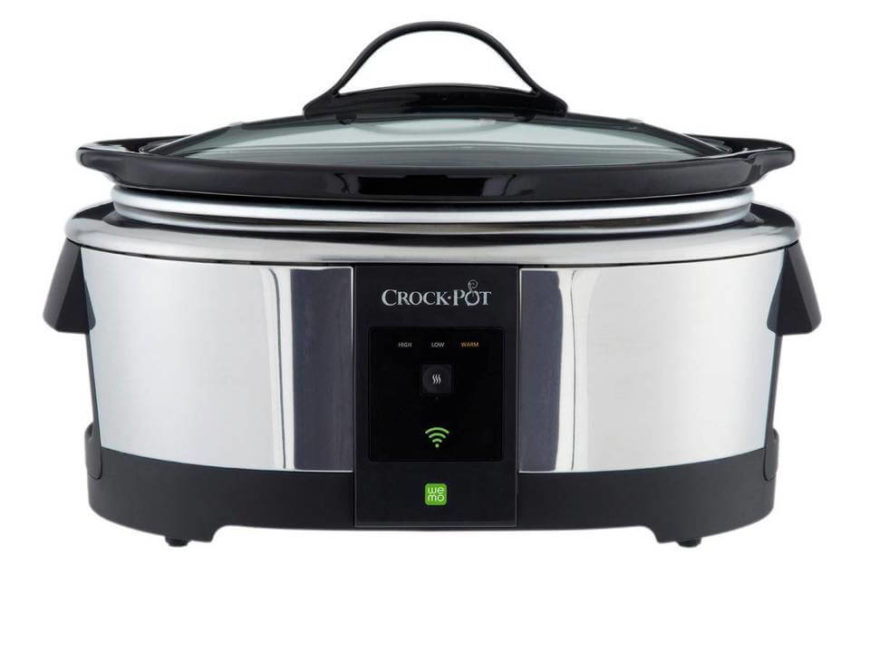 We admit that a crock pot wasn't the first place that we'd think of as a great use for smart technology, but this device changed our minds quickly. With a companion app, you can control temperature, timers, and scheduling with your smartphone from anywhere, allowing you to start cooking, warm food that's already done, and schedule dinner to be ready the second you're home. It even brings peace of mind to those who worry about leaving dinner slow cooking while they're at work.