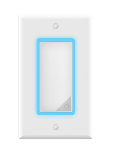 Entering a room at night, you'll see the Lightpad softly glowing so there's no need to fumble for a switch, and the color can be customized to your preference. The pad works with finger gestures, much like a smartphone screen, allowing you to control lights individually, for a whole room, or even the whole house.