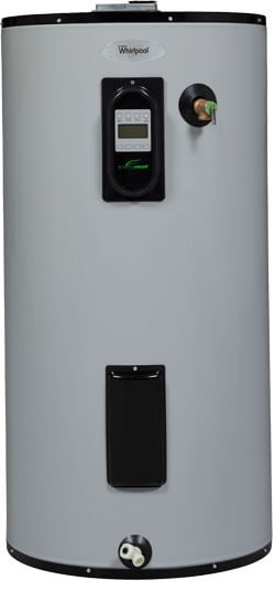 The venerable water heater is a longtime household workhorse that we don't really think about until it breaks. However, that doesn't mean technology hasn't improved it recently. This model features a touch screen user interface with diagnostic reporting and three selectable operating modes: standard, vacation, and Energy Smart. This last mode intelligently adapts to your hot water use in order to reduce standby heat loss and wasted money. Beyond this, the heater can be hooked to your existing smart home environment via wifi connectivity.