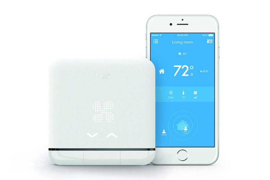 This smart AC controller allows you to connect your smartphone to your existing air conditioner. Using a companion app, the Tado uses your phone's location to determine when it should pre-cool the home before you arrive, and when it should turn off after you've left. Of course, you can also control the air conditioner from anywhere in the world, setting up the behavior patterns and scheduled cooling of your home with precision.