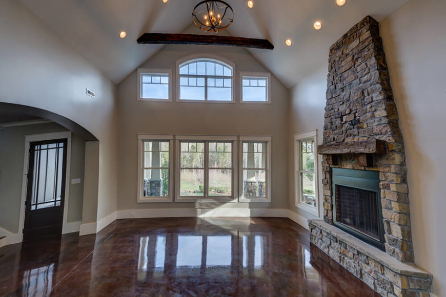 Captivating On The Other Side Of The Foyer Is The Great Room. With Two Story Vaulted