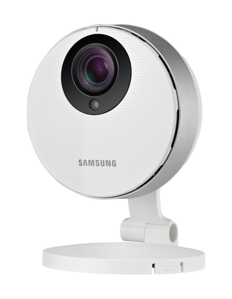 This smart camera features a bevy of intricate high-tech features to make it a radical presence in your home. First of all, the lens offers 128 degree super-wide angle coverage, with true night-and-day dynamic lighting range, grabbing clear images no matter what time it is. You can link and stream from up to 10 of the cameras in tandem, covering every angle of your home, while recording directly to SDXC memory cards slotted inside each camera for local storage. Additionally, it'll send you email or mobile phone notifications, and offers smart two-way talk features.