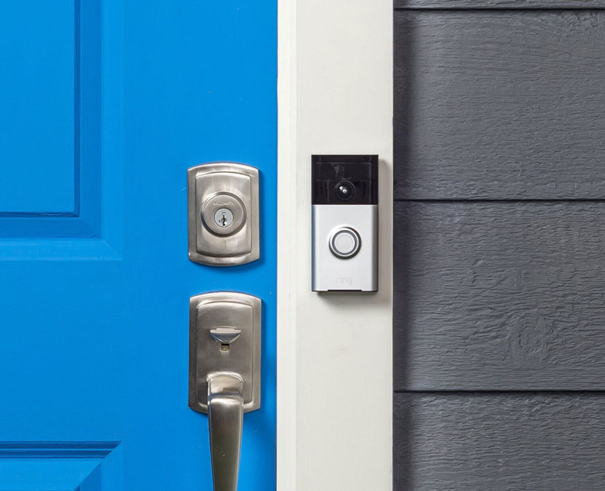What could possibly improve the timeworn doorbell? A camera! This device lets you see and directly speak with visitors to your door using a smartphone or tablet, whether you're at home or out and about. With a motion sensor, built-in camera, and two-way audio communication, it's a smart security solution disguised as a normal part of your home. Powered by rechargeable batteries, you don't even need to wire it in, so installation is a cinch.