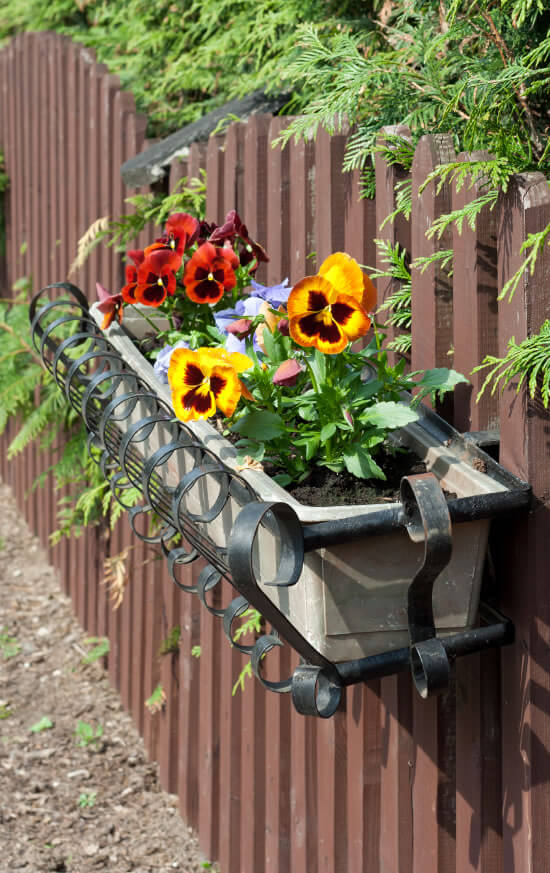 3 Vertical Garden Wrought Iron Flower Pot Holders Help Add A Dash Of