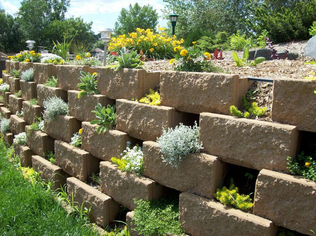 Terracing Is Another Cleaver Way To Increase A Garden Area. Leaving Space  In Between The