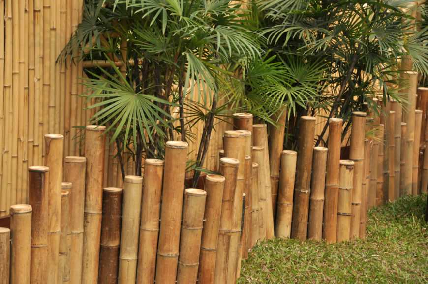 21 bamboo fence ideas for residential houses. Black Bedroom Furniture Sets. Home Design Ideas