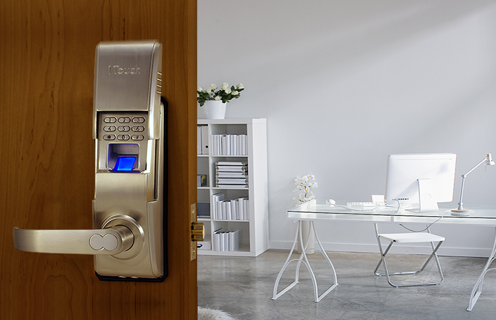 This handsome brushed nickel smart door lock features a sliding cover to discreetly obscure the keypad and fingerprint scanner. Featuring a 36 user fingerprint capacity and up to 78 individual password users, it can track and control the access allowed to everyone you want in your home. With its multi-tiered security layers, you can convert your home into a smart gateway in minutes. The fingerprint scanner can be the perfect match for families with children, as the kids don't need to be trusted with holding on to a precious key all day.