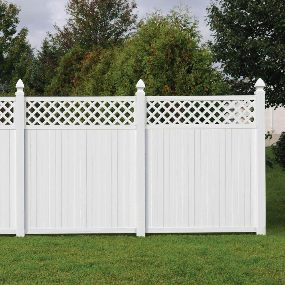 White Privacy Fence Ideas. Lattice Vinyl Fence White Privacy Ideas ...