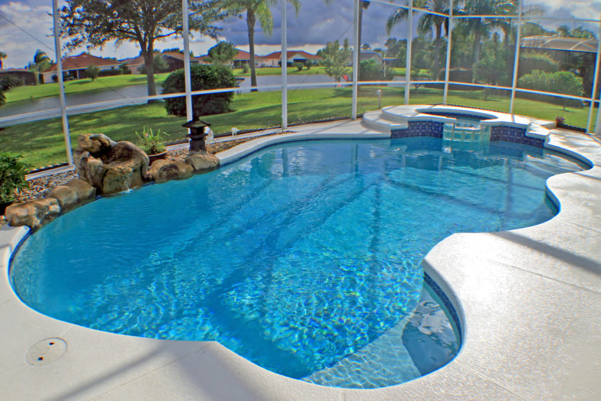 Swimming Pool Design Shape Swimming Pool And Spa