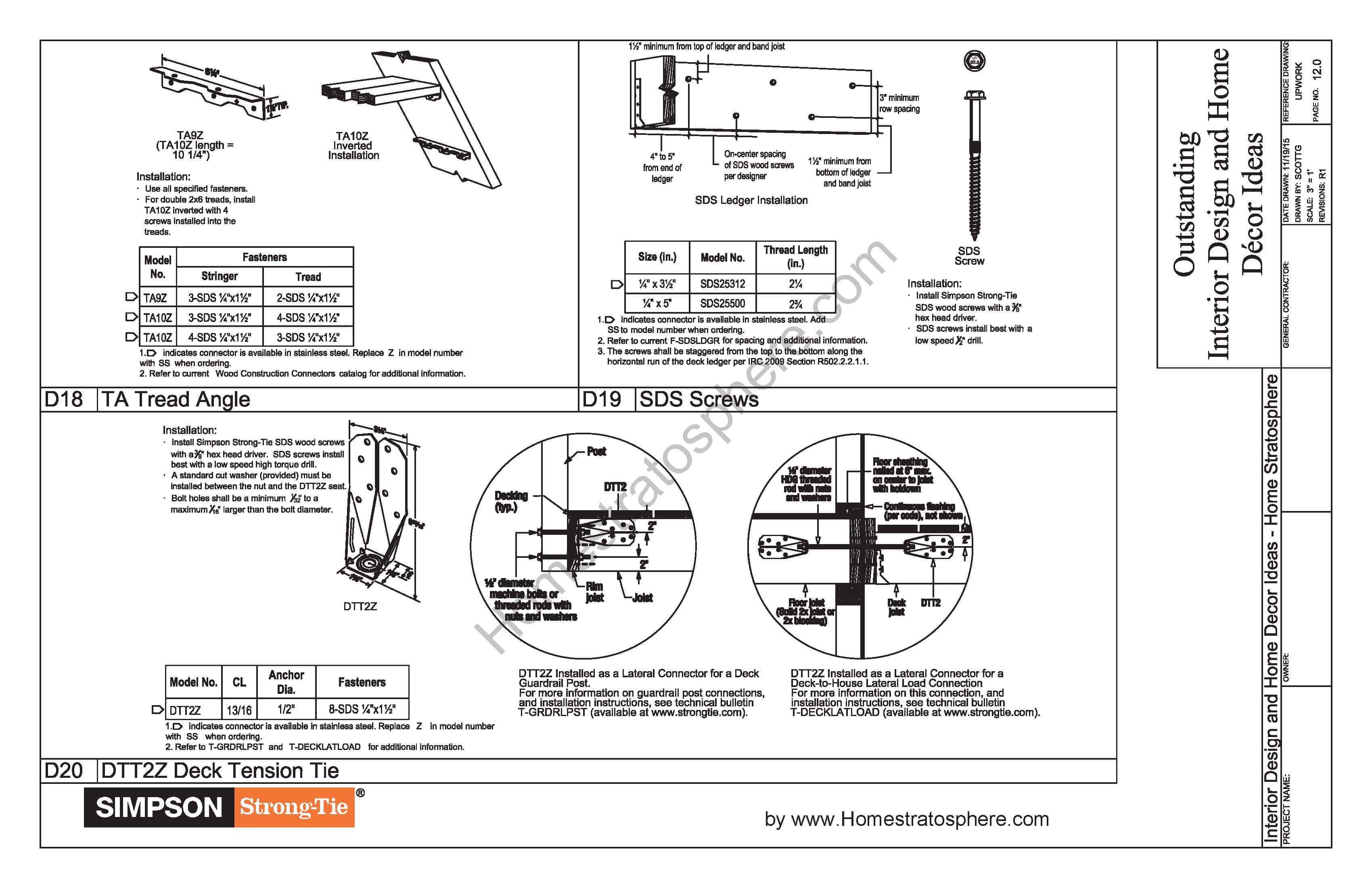 Free 12 x 16 deck plan blueprint with pdf document download 12x16 deck with stairs planpage12 malvernweather Gallery